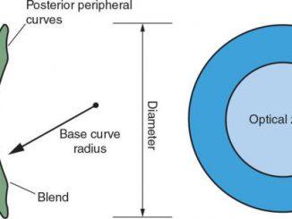 radius van een contactlens